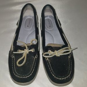 Sperry Top-Sider Black Sparkle Angelfish Shoes